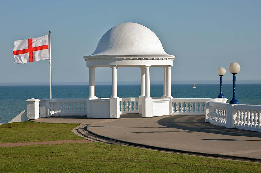 Bexhill Colonnade With English Flag