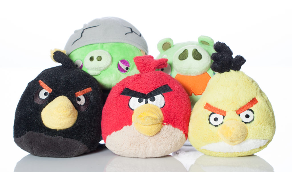 Angry Birds video game stuffed toys