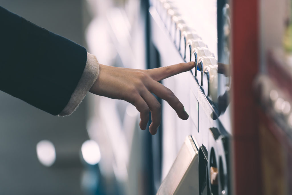 Buying from a vending machine