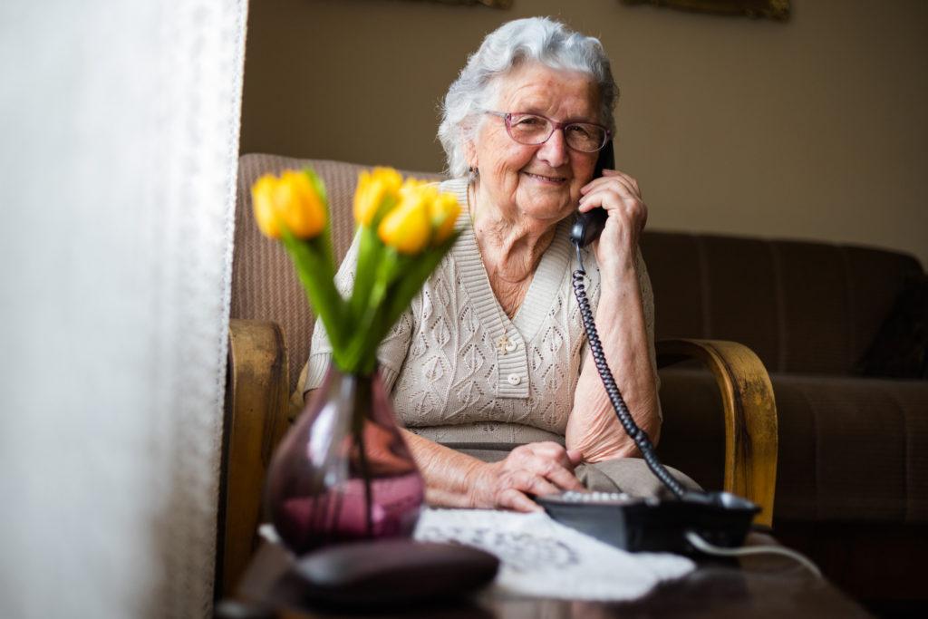 Enjoying connecting via a phone call